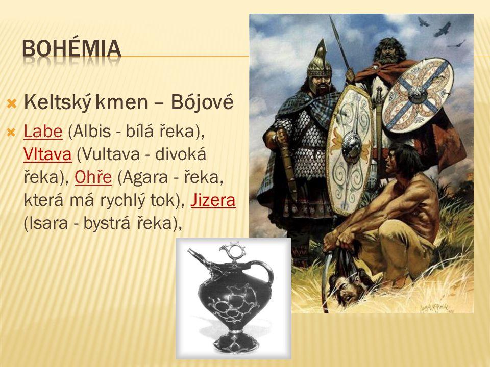 BOHÉMIA Keltský kmen – Bójové
