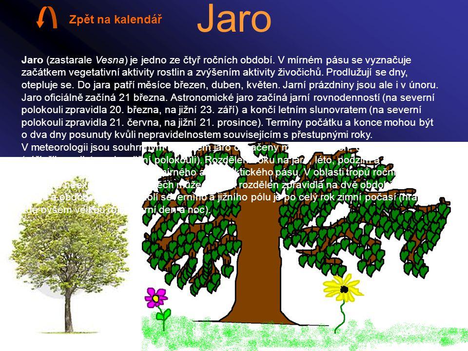 Jaro Zpět na kalendář.