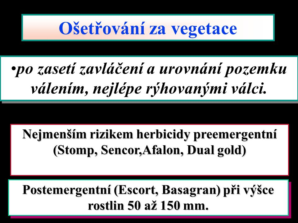 Ošetřování za vegetace