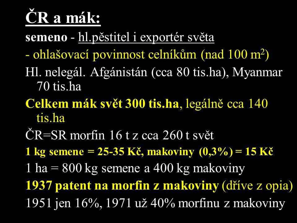 ČR a mák: semeno - hl.pěstitel i exportér světa