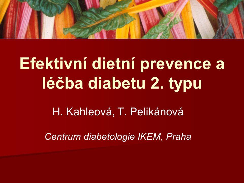 Efektivní dietní prevence a léčba diabetu 2. typu
