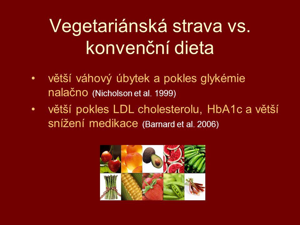 Vegetariánská strava vs. konvenční dieta