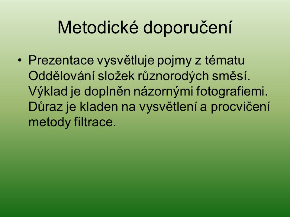 Metodické doporučení