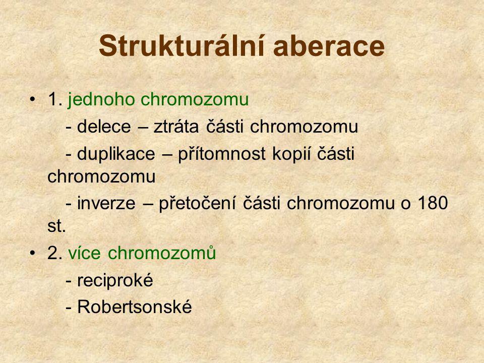 Strukturální aberace 1. jednoho chromozomu