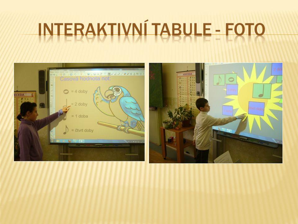 INTERAKTIVNÍ TABULE - FOTO
