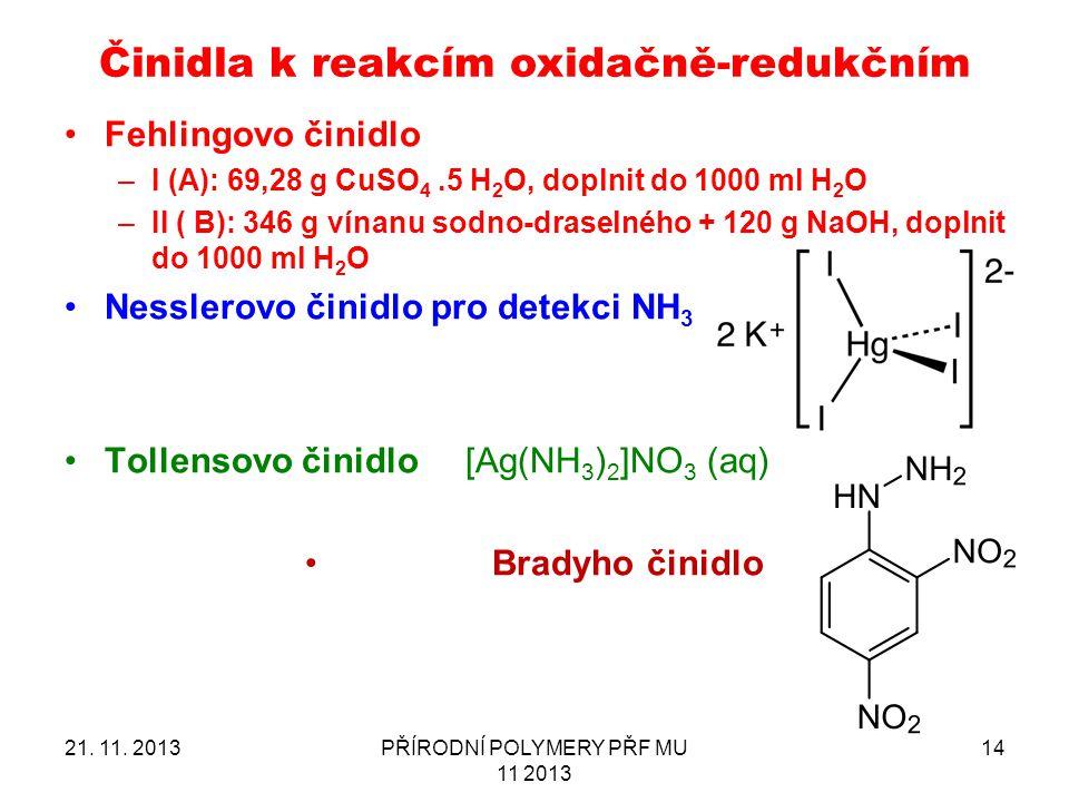 Činidla k reakcím oxidačně-redukčním