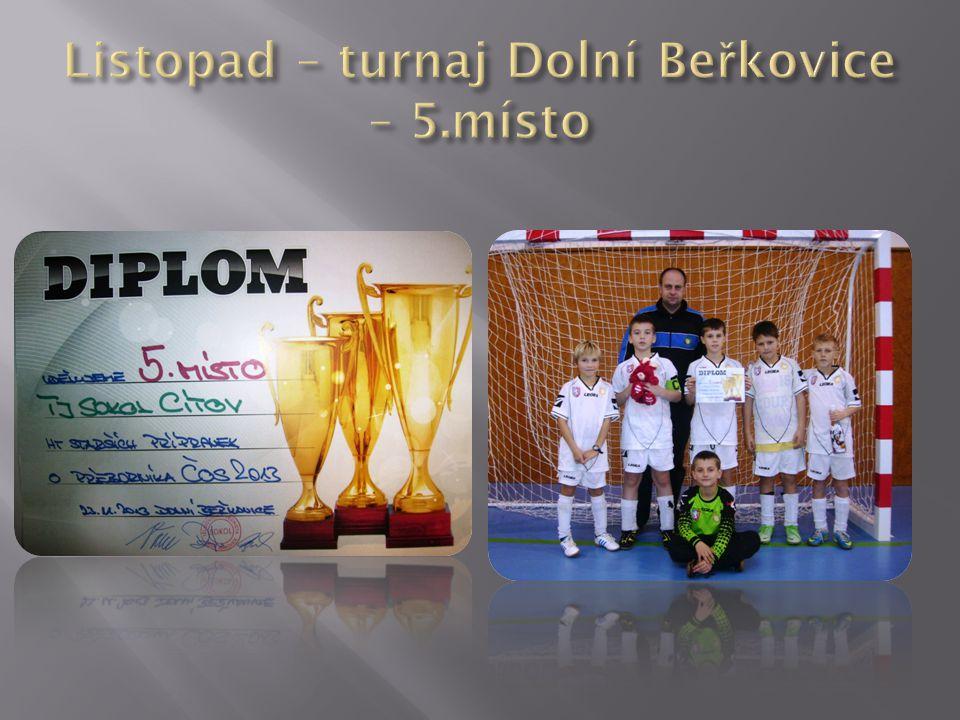 Listopad – turnaj Dolní Beřkovice – 5.místo