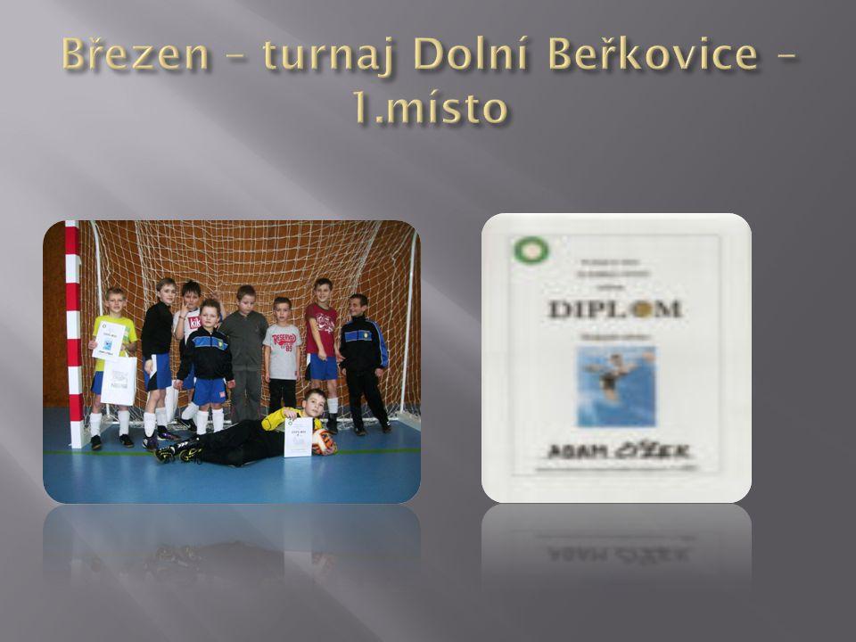 Březen – turnaj Dolní Beřkovice – 1.místo