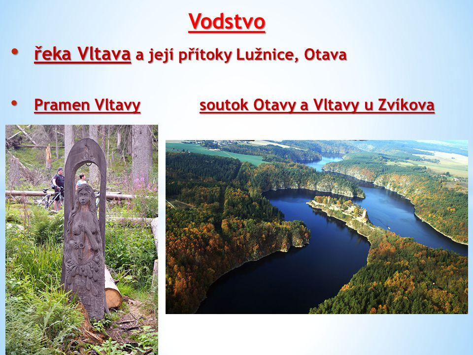 Vodstvo řeka Vltava a její přítoky Lužnice, Otava