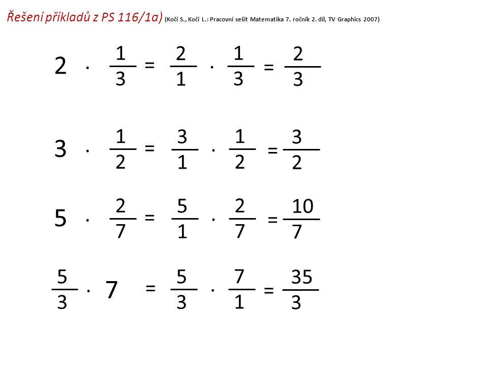 Řešení příkladů z PS 116/1a) (Kočí S. , Kočí L