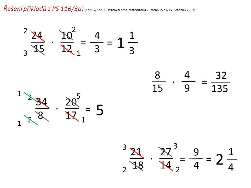 Řešení příkladů z PS 116/3a) (Kočí S. , Kočí L