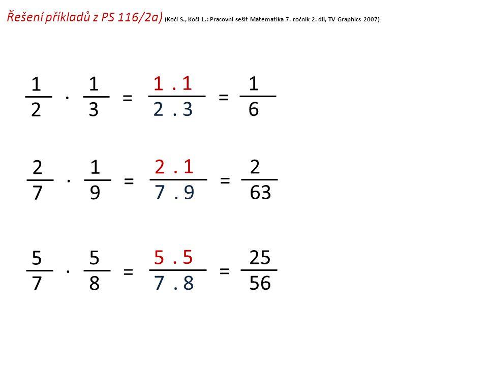 Řešení příkladů z PS 116/2a) (Kočí S. , Kočí L
