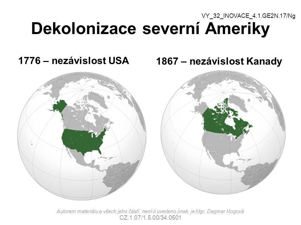 Dekolonizace severní Ameriky