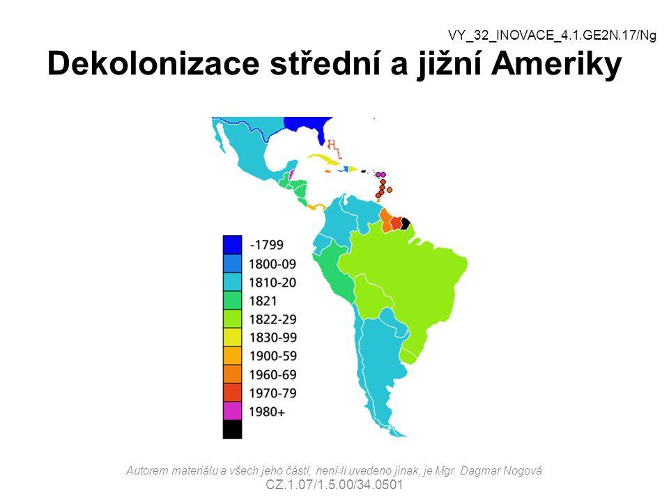 Dekolonizace střední a jižní Ameriky