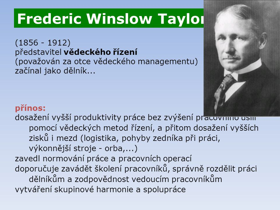 Frederic Winslow Taylor