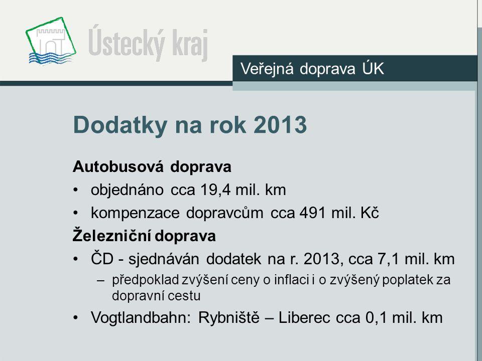 Dodatky na rok 2013 Veřejná doprava ÚK Autobusová doprava