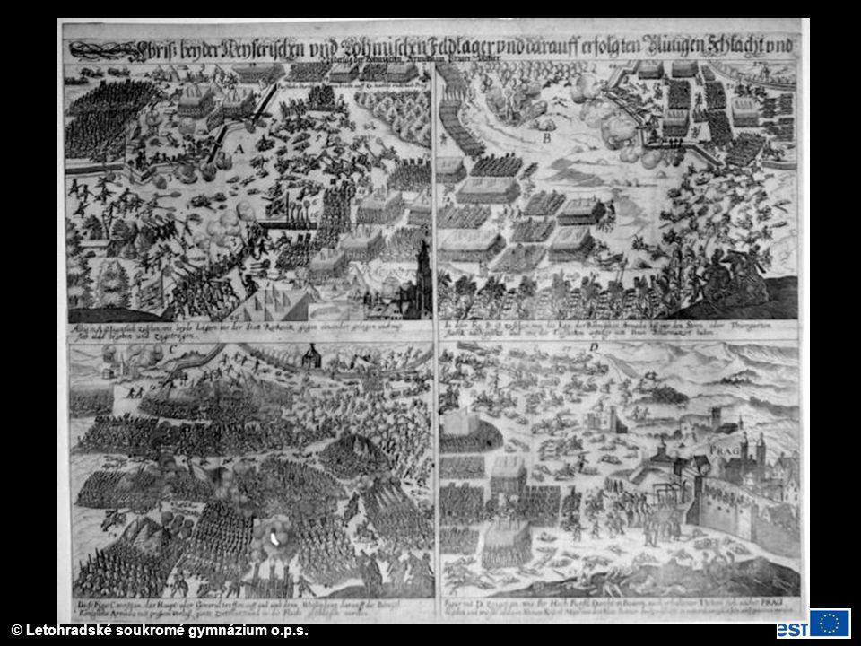 Vyobrazení bitvy na Bílé hoře (8. 11. 1618)