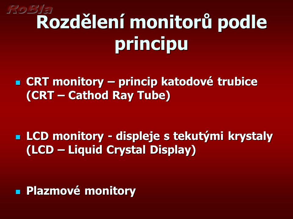 Rozdělení monitorů podle principu