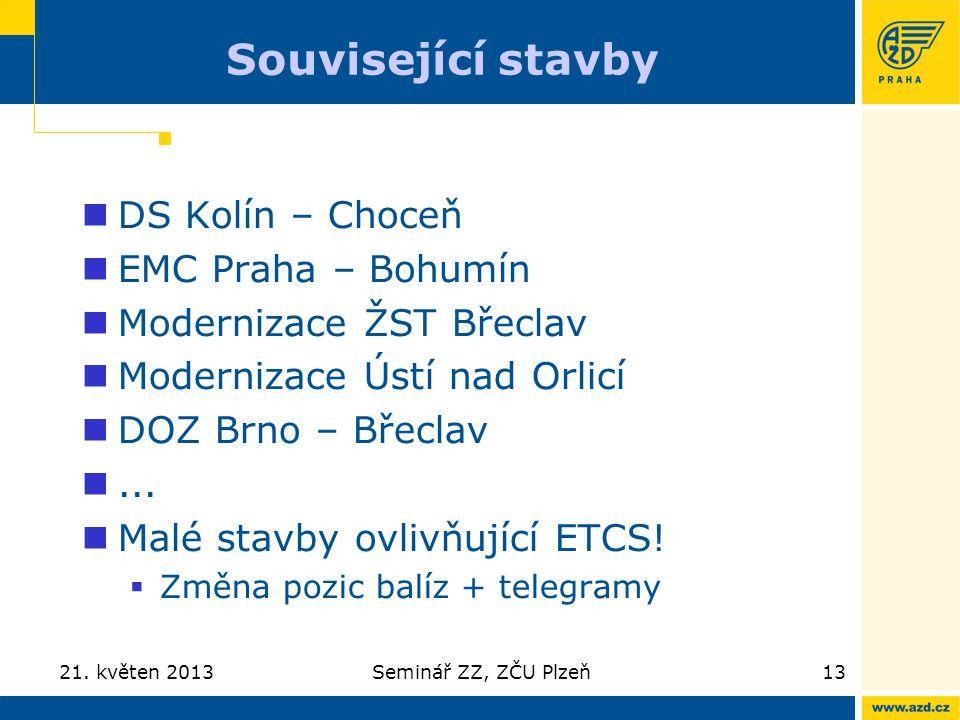 Související stavby DS Kolín – Choceň EMC Praha – Bohumín
