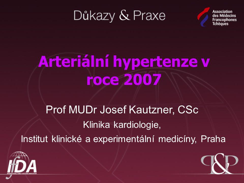 Arteriální hypertenze v roce 2007