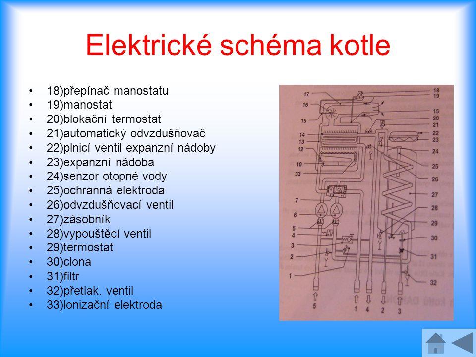 Elektrické schéma kotle