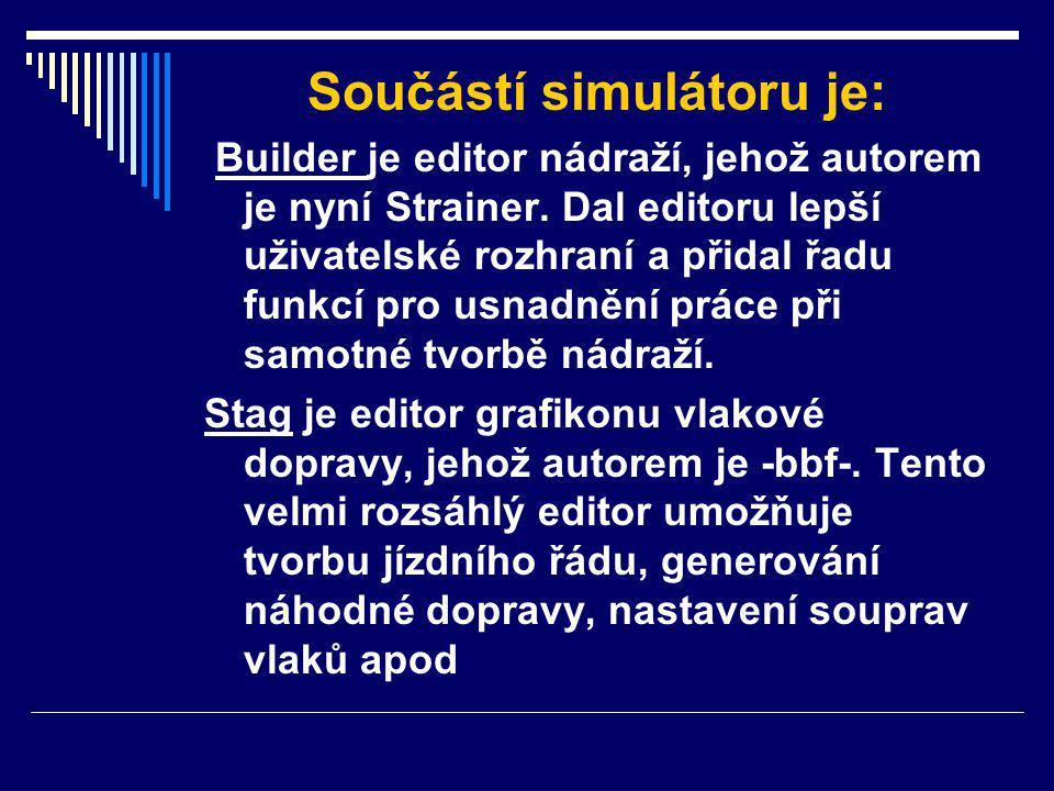 Součástí simulátoru je: