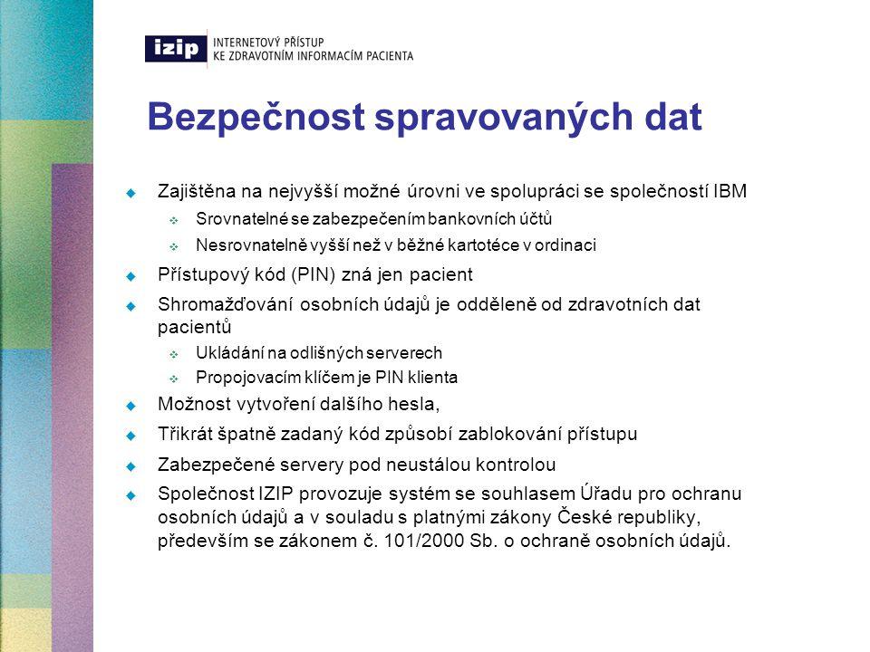 Bezpečnost spravovaných dat