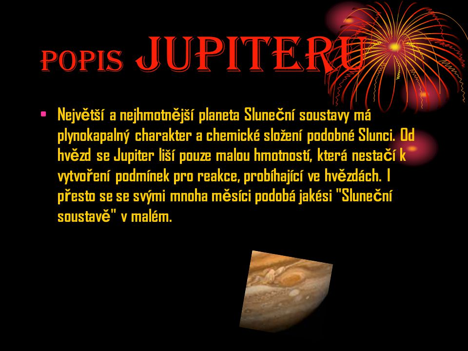 Popis JupiterU