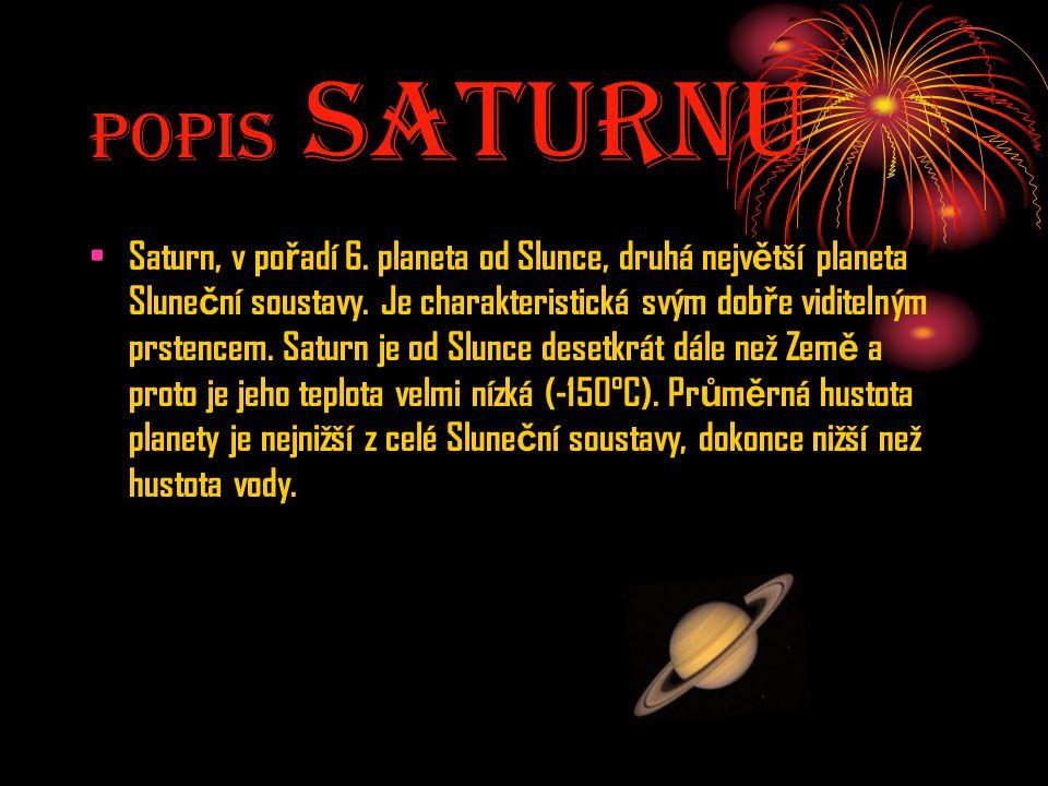 Popis SaturnU
