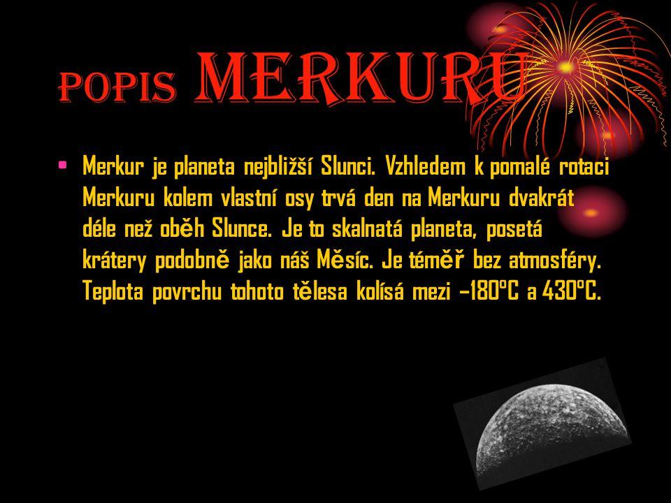 Popis MerkurU