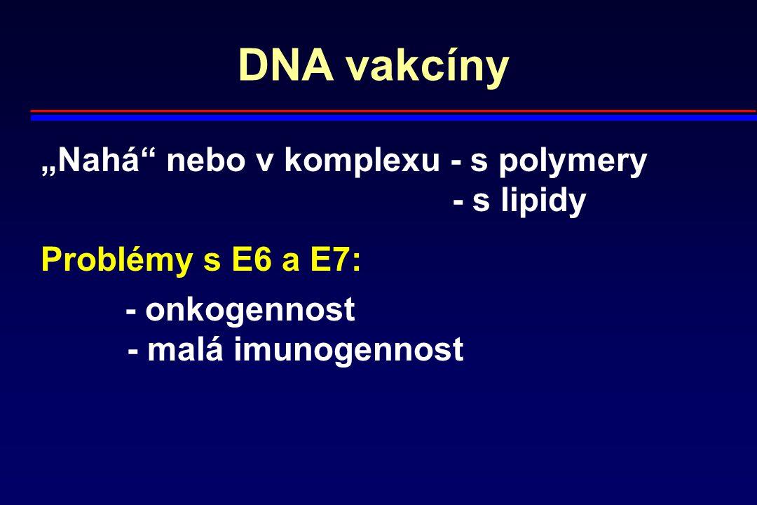 """DNA vakcíny """"Nahá nebo v komplexu - s polymery - s lipidy"""