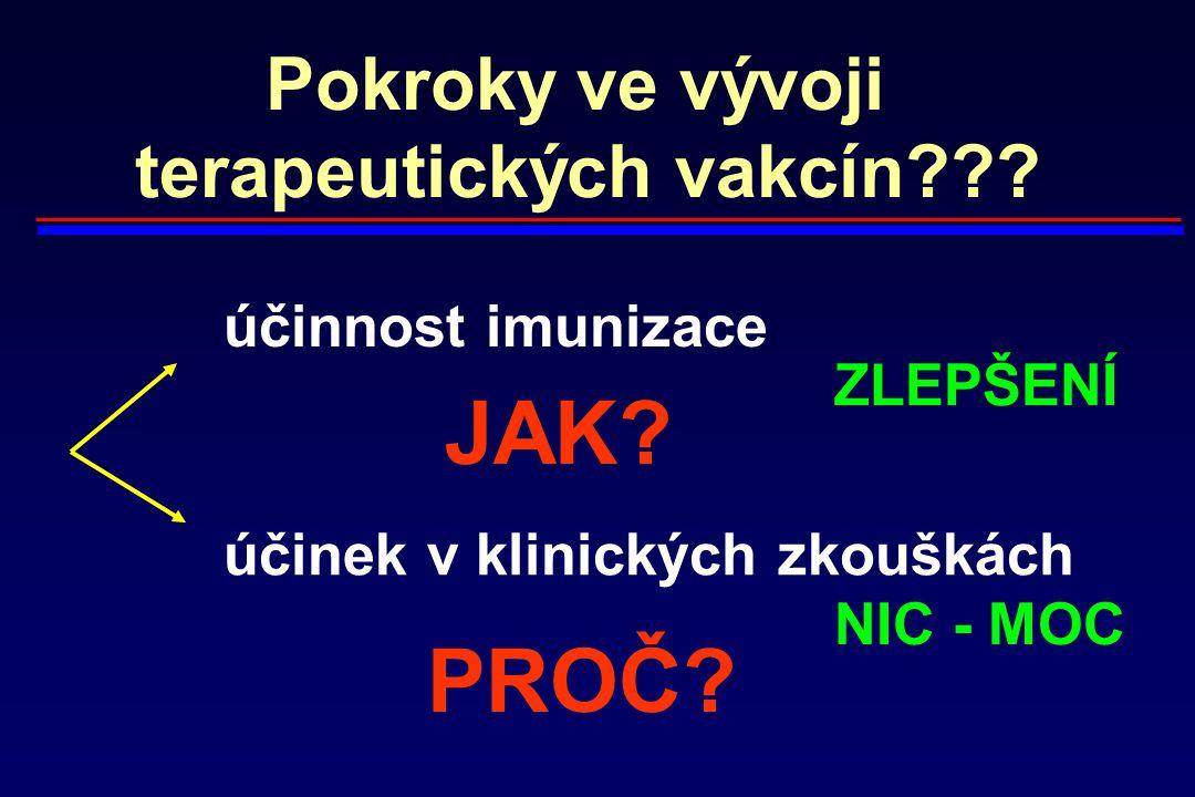 terapeutických vakcín