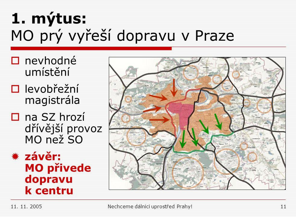 1. mýtus: MO prý vyřeší dopravu v Praze