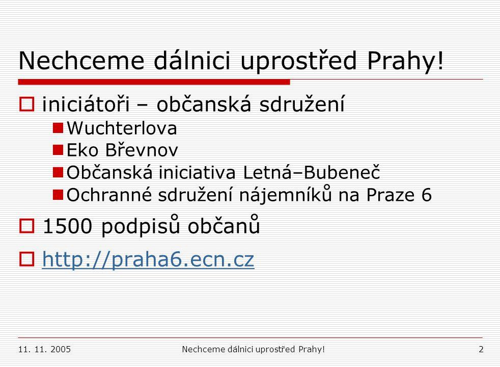 Nechceme dálnici uprostřed Prahy!