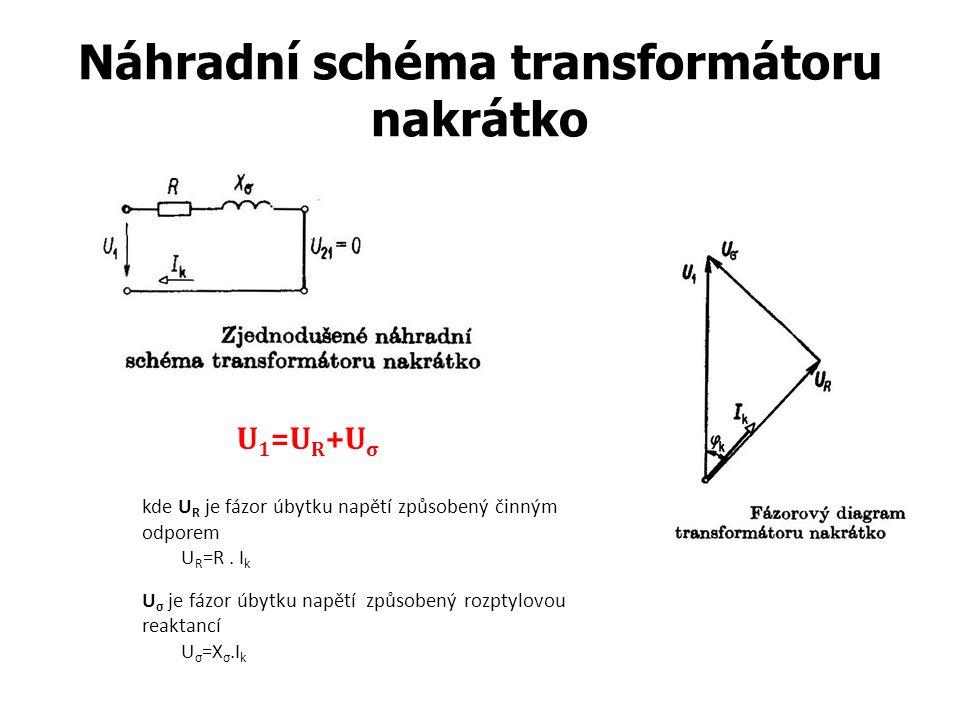 Náhradní schéma transformátoru nakrátko