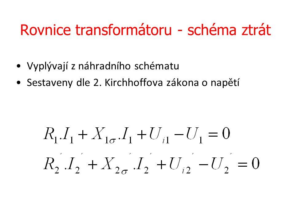 Rovnice transformátoru - schéma ztrát