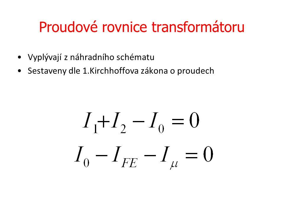 Proudové rovnice transformátoru