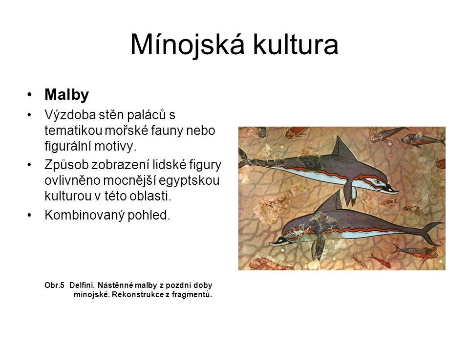 Mínojská kultura Malby