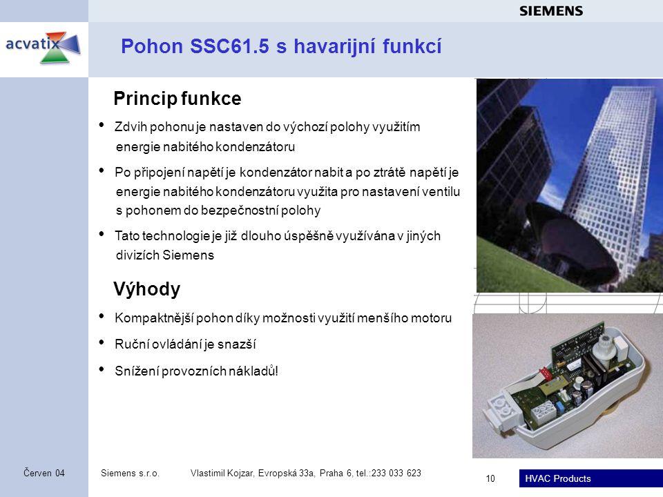 Pohon SSC61.5 s havarijní funkcí
