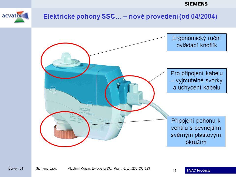 Elektrické pohony SSC… – nové provedení (od 04/2004)