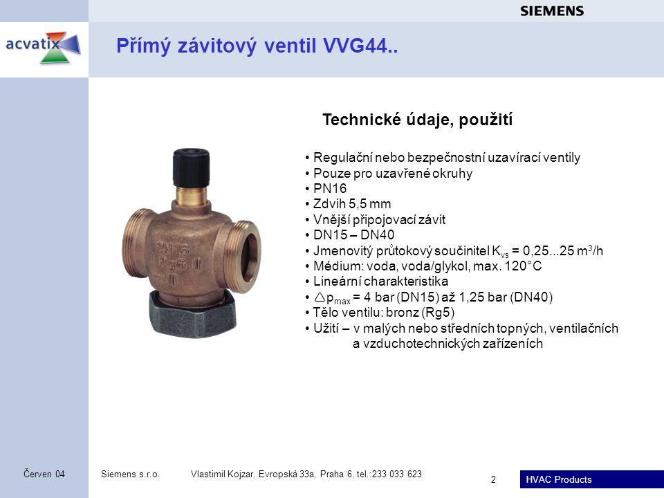 Přímý závitový ventil VVG44..