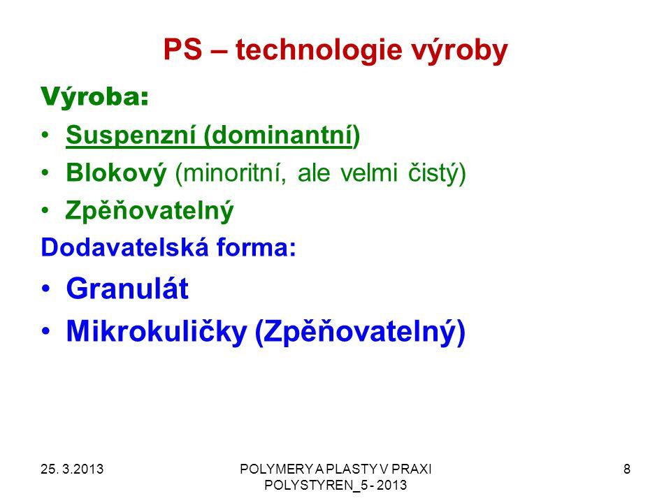 PS – technologie výroby