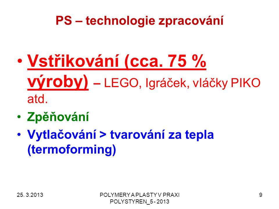 PS – technologie zpracování