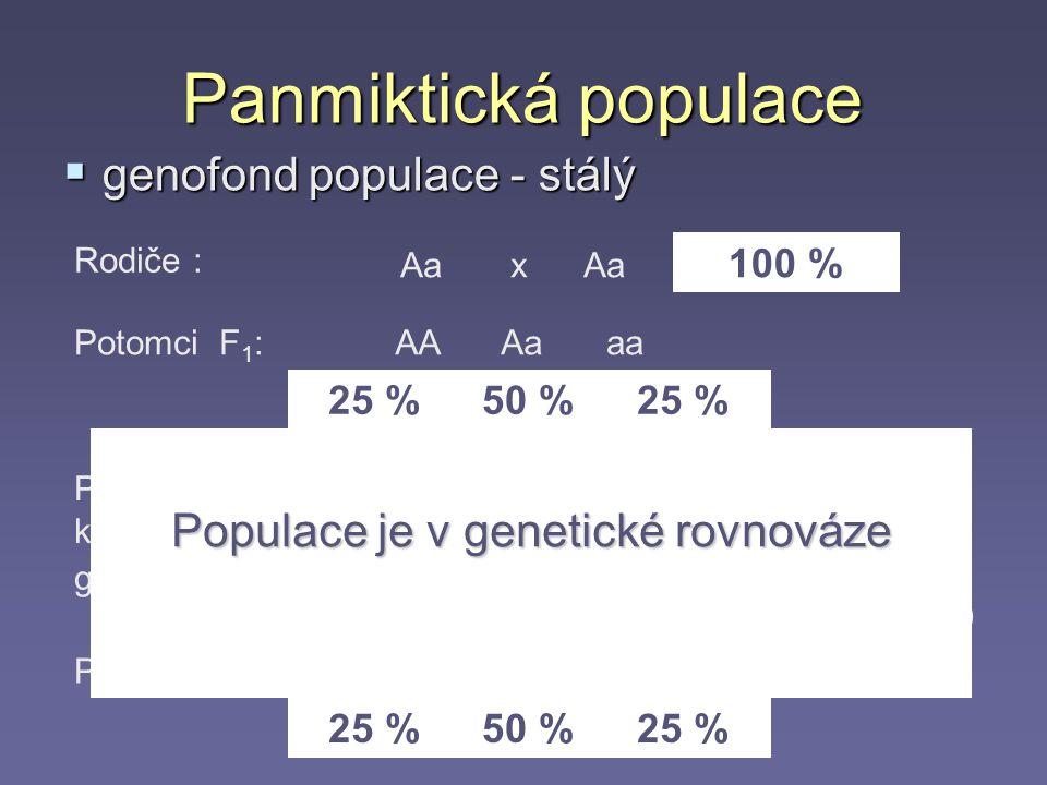 Populace je v genetické rovnováze
