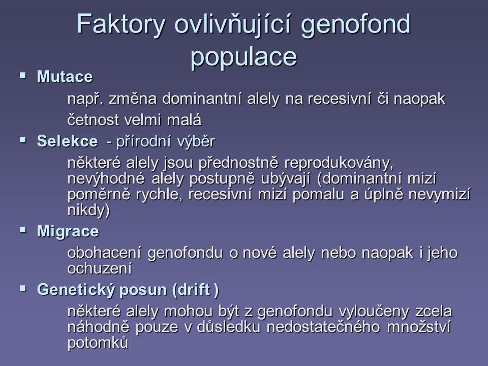 Faktory ovlivňující genofond populace