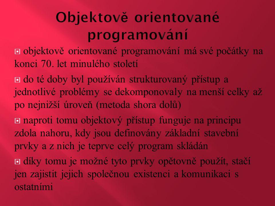 Objektově orientované programování