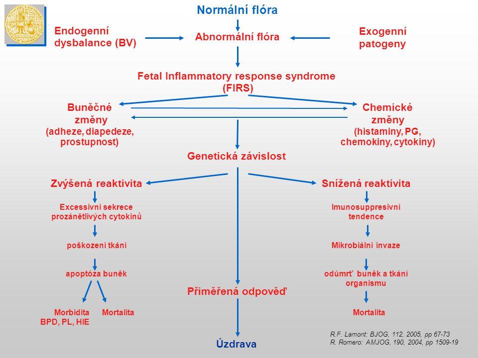 Fetal Inflammatory response syndrome prozánětlivých cytokinů