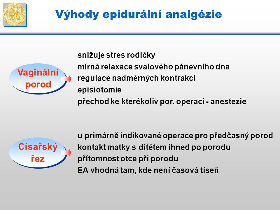 Výhody epidurální analgézie