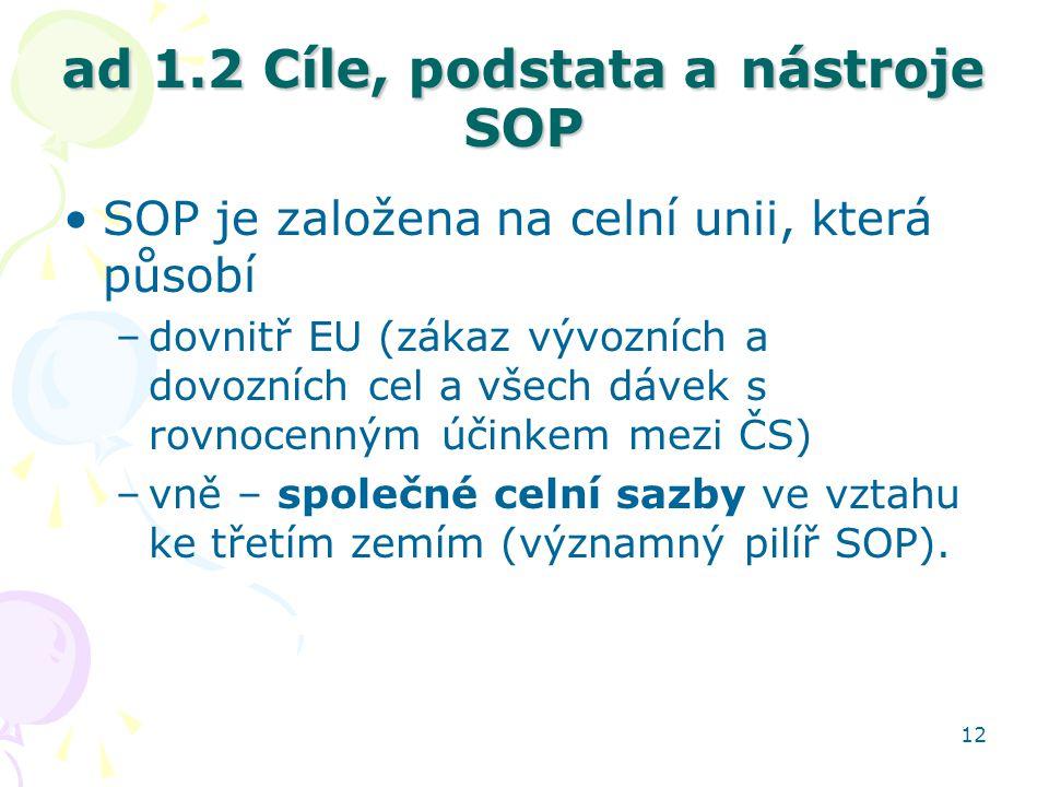ad 1.2 Cíle, podstata a nástroje SOP
