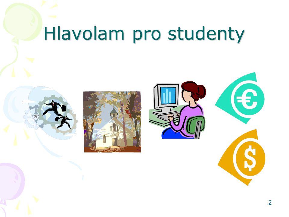 Hlavolam pro studenty